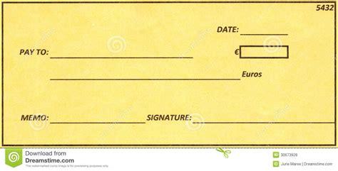 euro cheque royalty free stock photos image 30673928