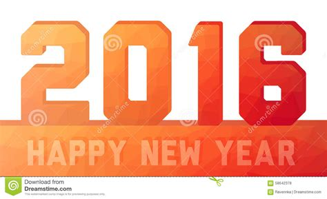 new year 2016 oranges happy new year 2016 orange card stock vector image