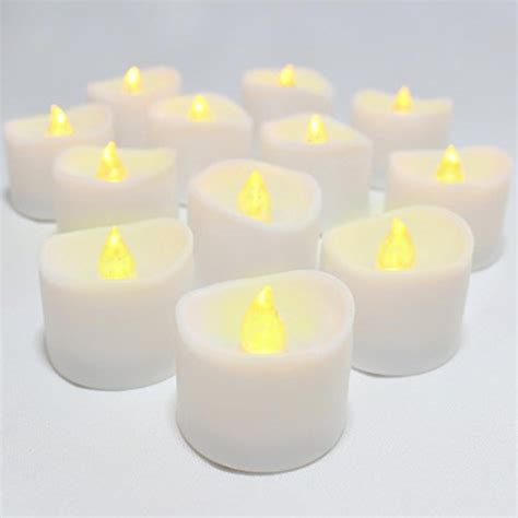 battery operated tea lights with timer led lytes flameless set of 12 battery operated