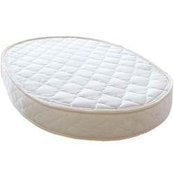 Crib Mattress Certified Organic Oval Crib And Organic Oval Bassinet Mattress Lifekind