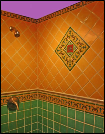 colorful tiles for bathroom remodel your shower with mexican tile mexican tile designs