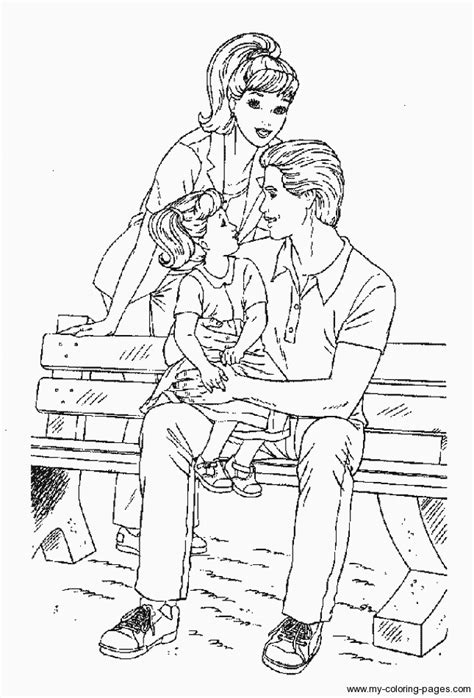 barbie  ken colouring pages clip art library