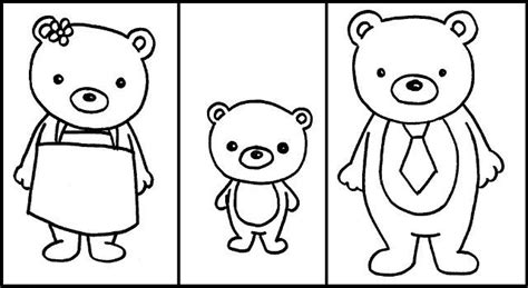 three bears coloring page free goldilocks and the three bears printable activity
