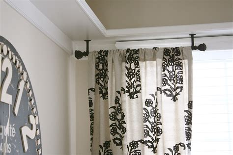 where to mount curtain rods ceiling mount curtain rods home lighting insight