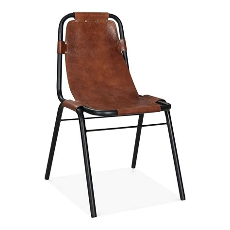 metal industrial dining chairs brown leather mercury metal side chair industrial dining