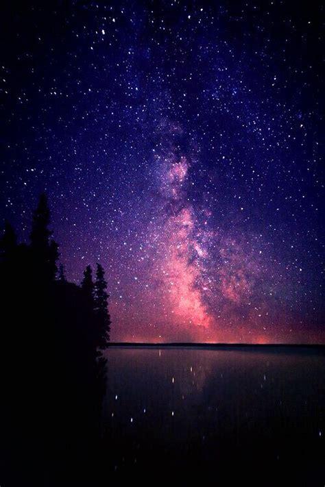 Starry D purple starry sky