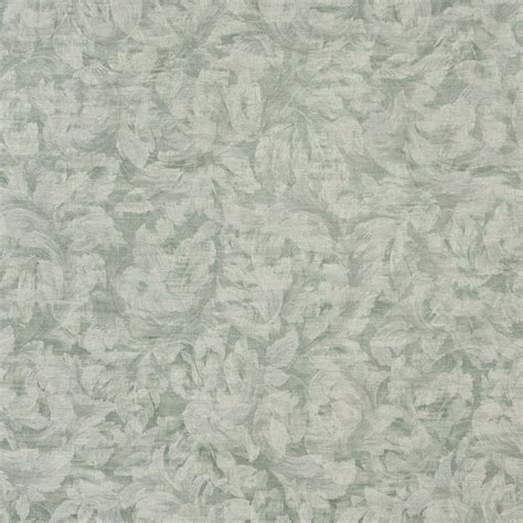 pastel upholstery fabric green and ivory pastel floral leaves woven print