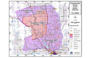california wildfire evacuation map new evacuation alert covers lake montney