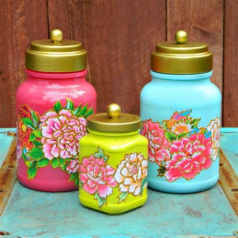Decoupage On Glass Jars - 25 best ideas about decoupage jars on