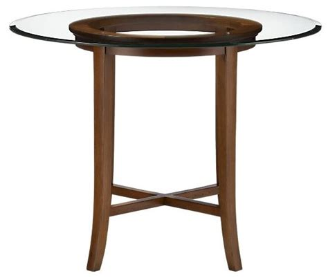 Halo Cognac 36 Quot High Dining Table With 48 Quot Glass Top 36 Inch Glass Dining Table