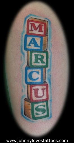 block tattoos alphabet blocks name by garancheski iii