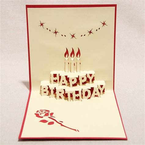 birthday cake kirigami pop up card template 3598 best images about cards papercrafts 2 on
