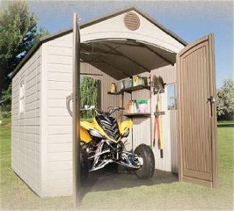 lifetime dual entry outdoor storage shed best storage design 2017