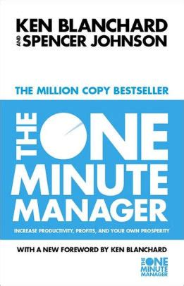 One Minute Manager the one minute manager by kenneth h blanchard spencer
