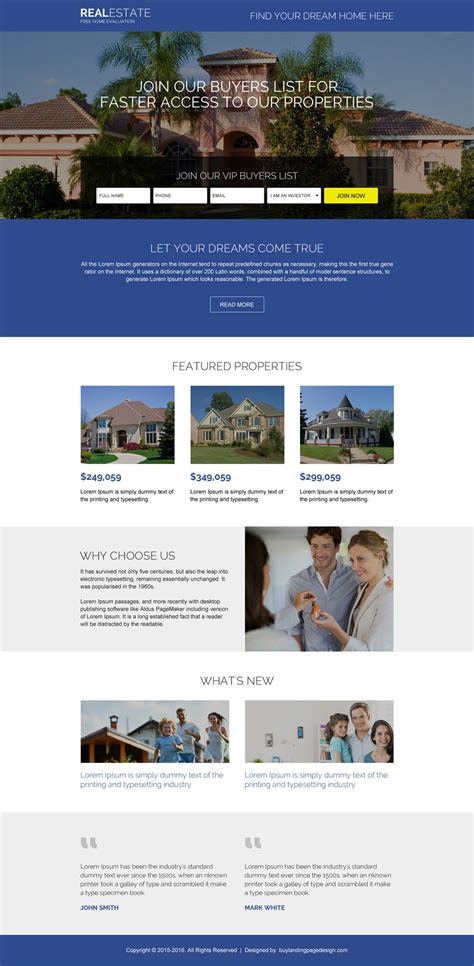 real estate home page design home photo style