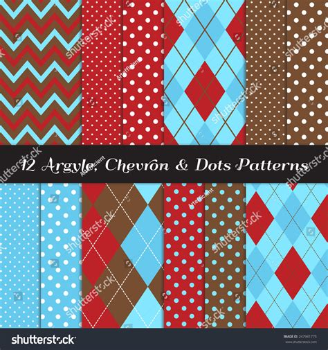 pattern green red brown red blue two tone blue red brown and white chevron argyle and