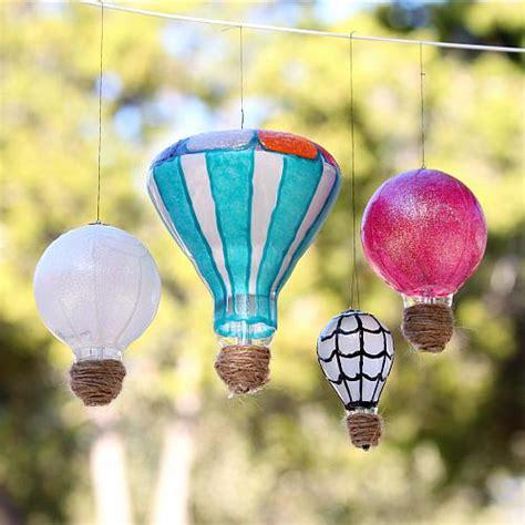 diy light bulb hot air balloons project  decoart