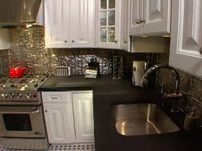 how to install ceiling tiles as a backsplash hgtv diy weekend project give your kitchen a makeover with a