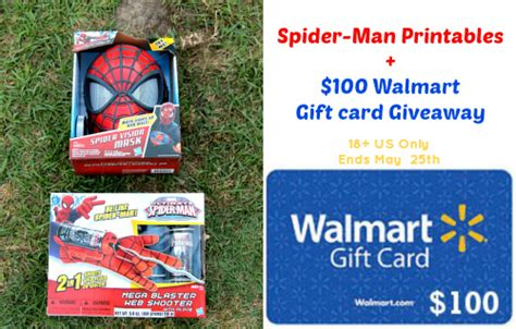 Walmart Gift Cards Available - spider man printables 100 walmart gift card giveaway afropolitan mom