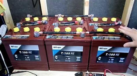 battery bank   series parallel  rv camper van