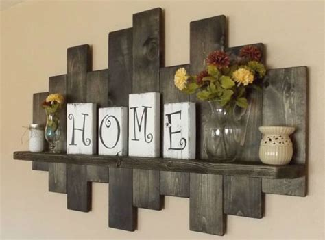 best 25 rustic wall shelves ideas on living