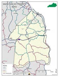 boyd county kentucky map of snow operations