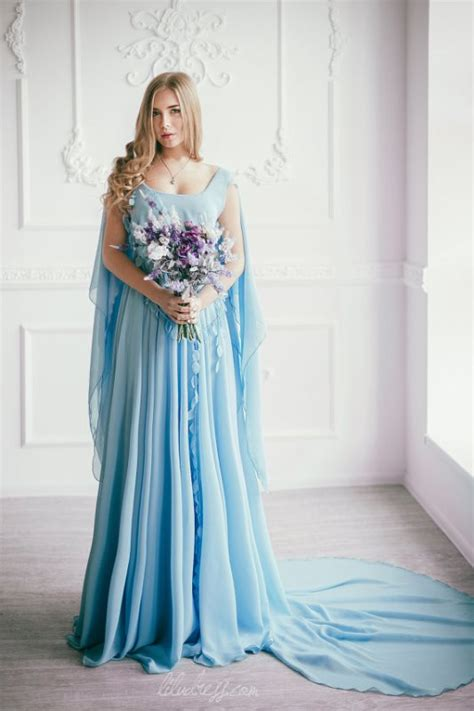 Blue Wedding Dress by 35 Trendy And Blue Wedding Gowns Weddingomania