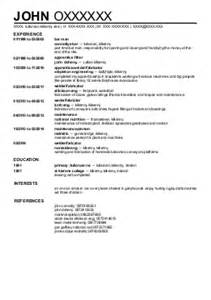 Steel Worker Sle Resume by Metal Workers Cv Exles Construction Cv S Livecareer