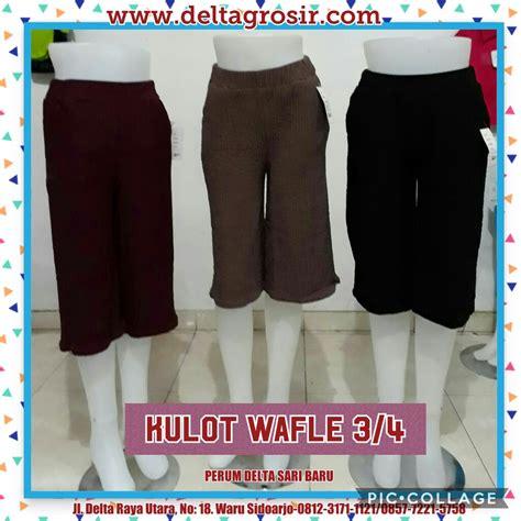 Grosir Bawahan Wanita Gisela Waffle Murah supplier celana kulot waffle 3 4 wanita dewasa murah 26ribu peluang usaha grosir baju anak