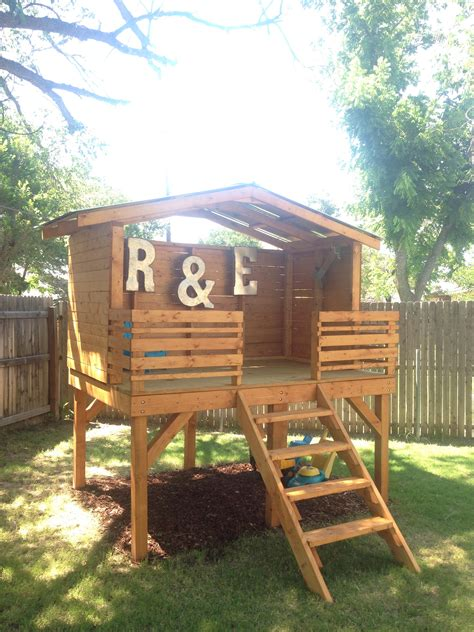 chronicles his diy backyard fort project