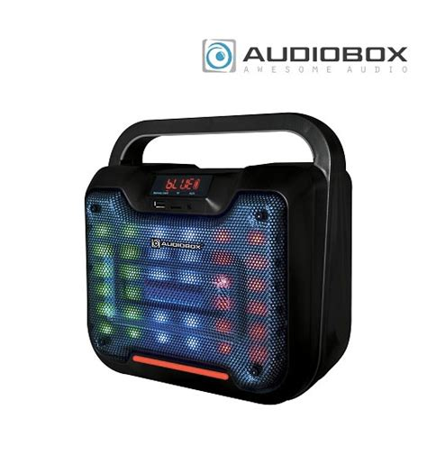 Audiobox Boombox Portable Bbx500 Bluetooth Free Mic Guitar Input audiobox bbx300 light weight bluetooth boombox portable speaker with sound projection
