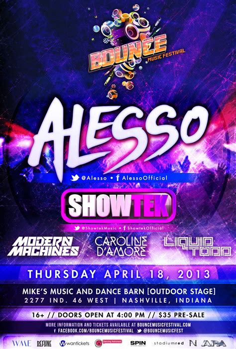alesso stubhub festival bounce music festival nashville ind tickets