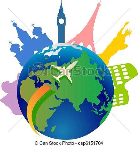 clipart mondo eps vector de mundo viajar alrededor avi 243 n viajar