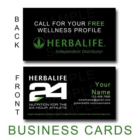 herbalife business cards templates business card design