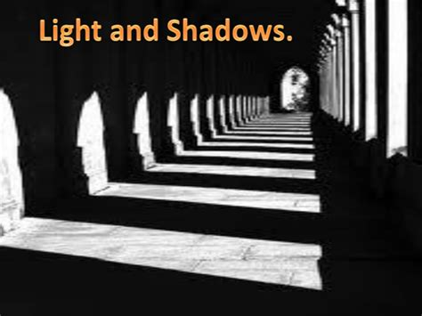 Shadows And Light by Light And Shadow Year 3
