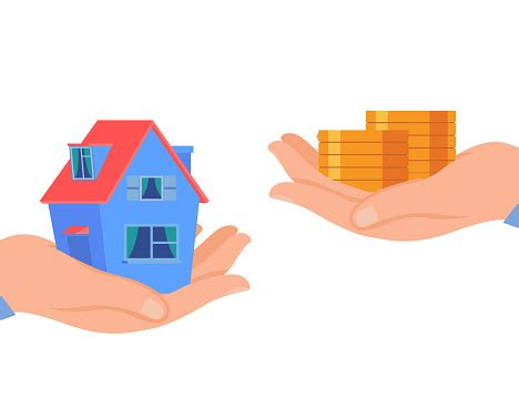 home loan house rent flat vector illustration stock