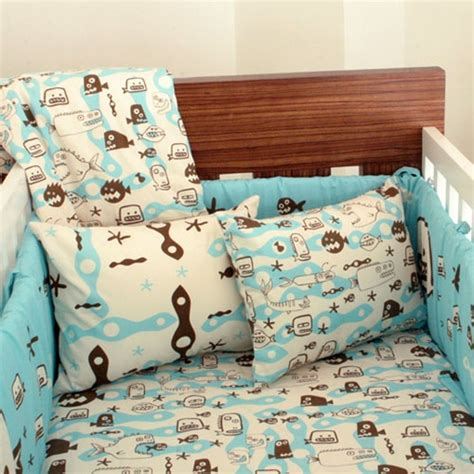 Fishing Crib Bedding Sets Scary Fish Aqua Baby Bedding Set
