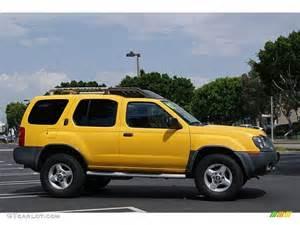 Yellow Nissan Pathfinder Solar Yellow 2002 Nissan Xterra Xe V6 Exterior Photo