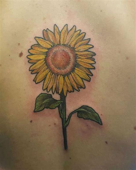 20 warm sunflower tattoo designs tattoos era