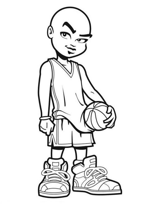 nba cartoon of michael jordan coloring page nba cartoon