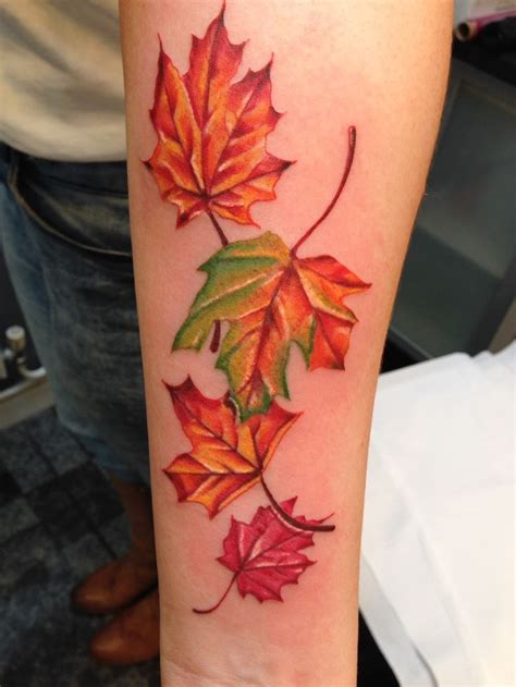 leaves tattoo designs 17 best ideas about autumn on