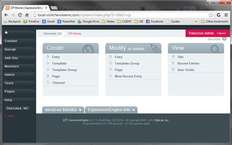 css layout panel control panel theme that looks like wordpress