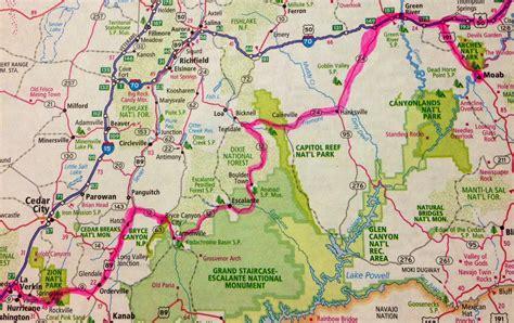 utah national parks map utah s national parks drive the nation