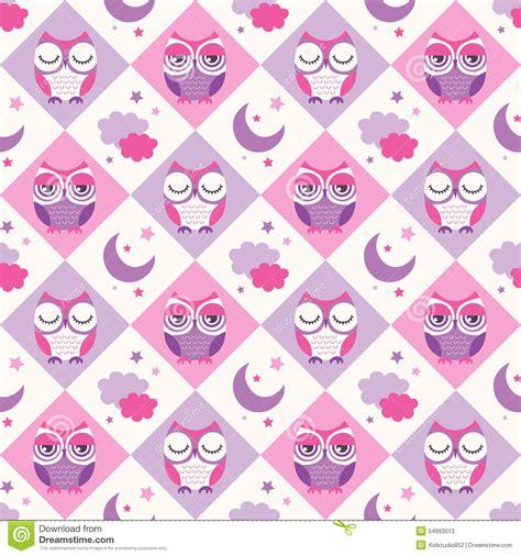 owl bedroom wallpaper seamless owls birds bedroom background stock vector
