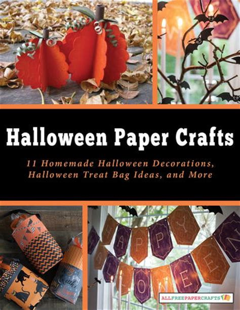 printable halloween bag decorations the ultimate collection of halloween paper crafts 55