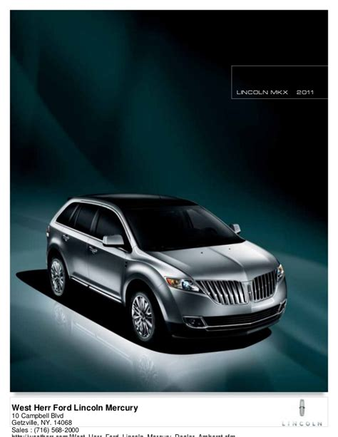 west herr lincoln 2011 lincoln mkx west herr ford lincoln mercury ny
