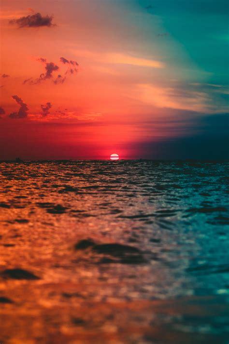 itap   colorful sunrise  monte hermoso argentina