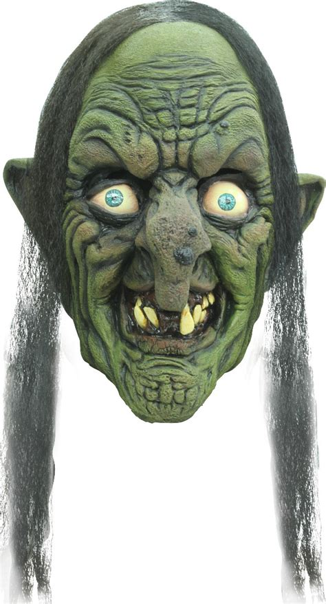 scary green witch mask  adults masksand fancy dress