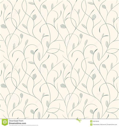 pattern clear yellow clear floral blue on beige seamless pattern royalty free
