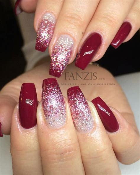 moon shape ombre glitter nail art pinterest best 25 acrylic nails ideas on pinterest acrylics